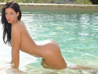 Coral May nude in the pool