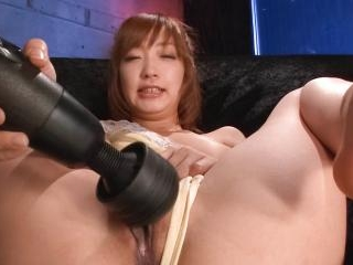 Asian sweetie Sana Anzyu rubs her pussy with a vib