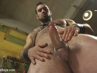 House dom takes his first machine deep in his hair