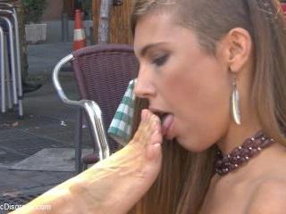 Saucy Spanish Slut Dragged Around the Streets of M
