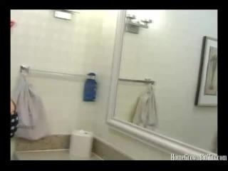 Sonya Sage Sucks Good Cock In The Bathroom