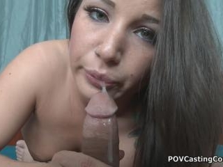 POV Casting Couch Brings You Slurping Charity Bang