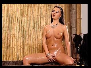 Cleopatra masturbating in the bath!