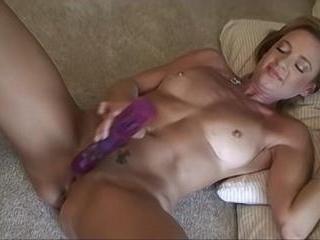 Stephanie Spreads And Wanks Off With A Dildo - Ste