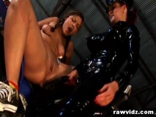 Horny Mistress In Latex Strap On Fuck