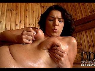 Seductive in the Sauna!