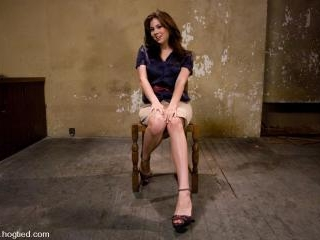 Welcome cute and innocent Amy Aveline to Hogtied.W