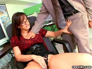 Jennifer White hot secretary fucks her boss