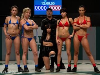 6 Girl gang bang orgy from hell: The losers are ge