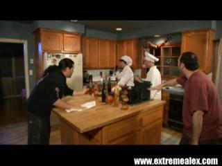 Kitchen Anal Sex