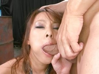 Sexy Asuka gobbles a hard cock and is fucked hard