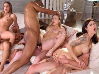 Wild Interracial Orgy with Medical Students Billie
