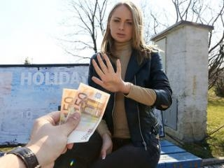 Euro Blonde Licks the Tip