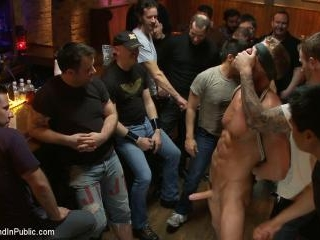 Blond Muscle Stud Blindfolded, flogged, humiliated