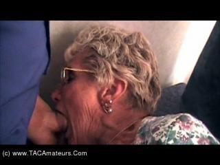 Granny Shirely Sucking Cock Pt2