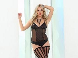 Natalia Starr Sexy in Black Lingerie