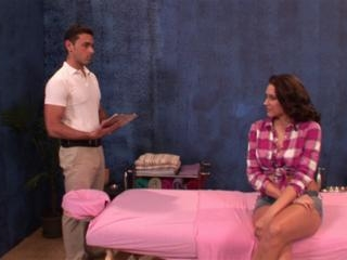Katie Summers in Katie Summers trades a massage fo