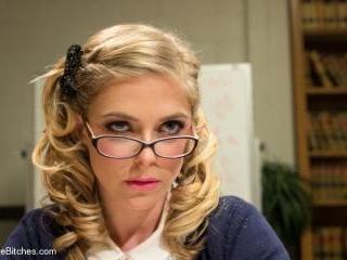 Bratty Princess Penny cuckolds her teacher in fron