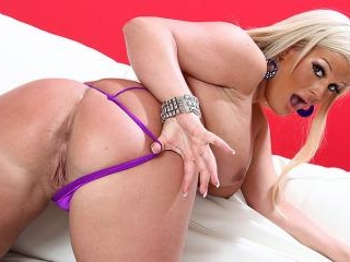 Wanton Blonde Stretched And Bent By Bbc To Her Gle