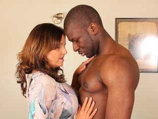 Hot British mom cheating on her husband with a str