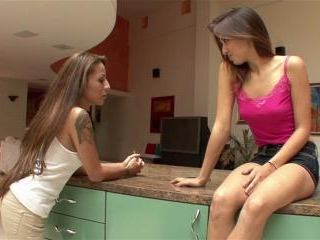 Gia Jakarta and Sara Luv licking each other