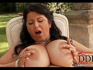 Delightful newcomer overflows bra