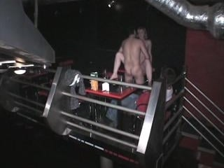Fuck in the nightclub shot by security cam!