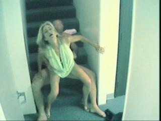 Watch hard guy probing lewd blonde\'s pussy and mou