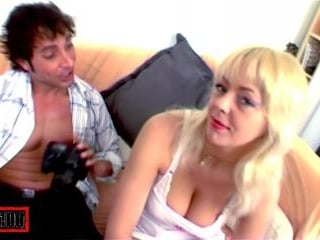 Hot blonde bitch fucked by real big dick!