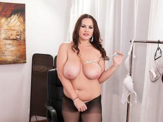 Ellis Finds A Bra That Fits Her Big Tits