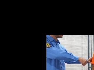 Nasty Blonde Bangs Dude in Uniform