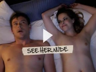Emily Hampshire briefly bares her boobs and butt i