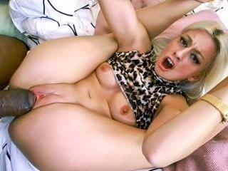 Petite white girl takes big black dick