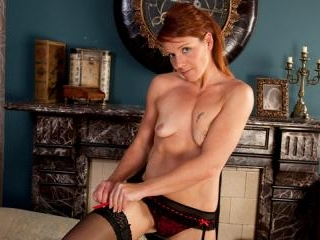 First sexy video for shy redhead mom