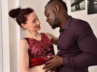 This horny mature lady loves a younger hard black
