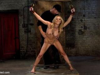 Tickling, flogging, caning. We make her cum over &