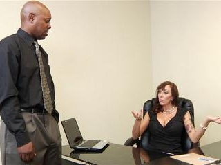 Alia Janine distracts the boss with anal sex