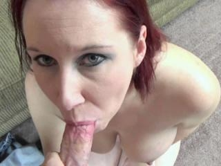 Chubby housewife Lia Shayde is going down on a sti
