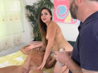 Hot Wife Gets Another Cock While She Cuckolds Her