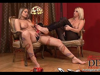 Tearing out of their pantyhose!