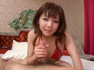 Kinky Hikaru Aoyama takes control of her mans hard