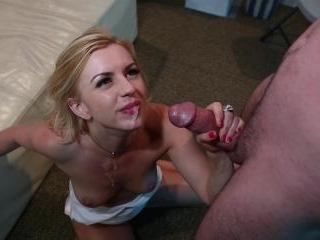 The gorgeous Lexi Belle bend down and got jizzed!