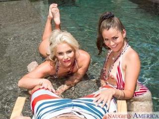 2 Chicks Same Time - Allie Haze & Phoenix Marie &
