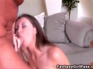 Busty Sara Stone fucking big cock on her couch