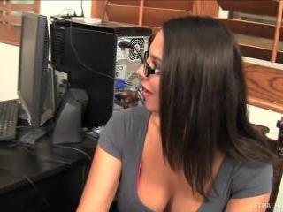 pornstars Alana Evans and Missy Martinez office in