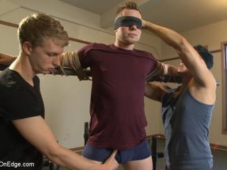 Brand new straight stud gets his hard cock edged