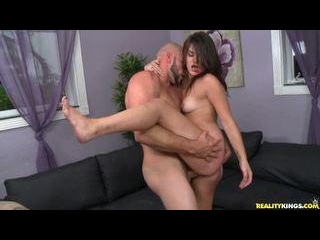 Angel rides Cowgirl and gets pounded in a Standing