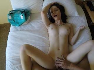 Spy-filmed fuck with an escort