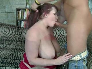 Redhead BBW Eliza Allure Gives Hot Oral
