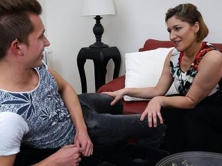 Naughty german housewife playing with her toy boy